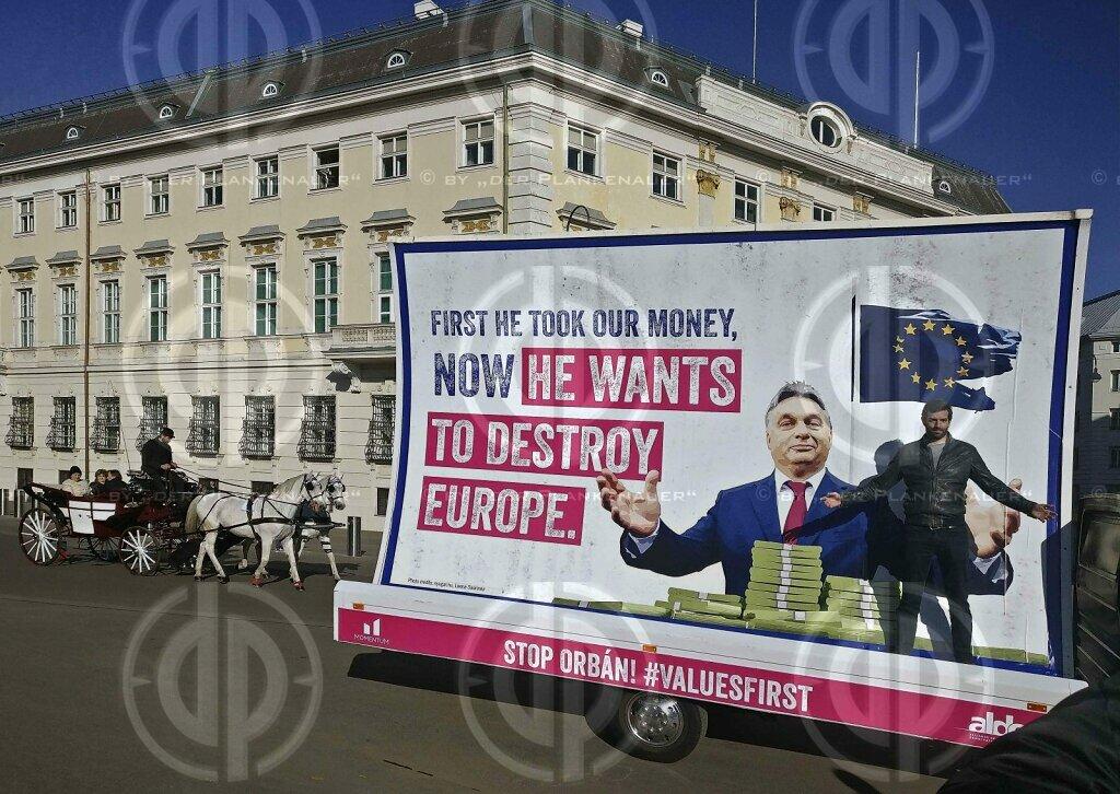 Protest gegen Orban