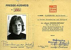 Erster Presseausweis 1973