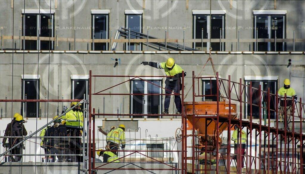 Winterarbeiten am Bau