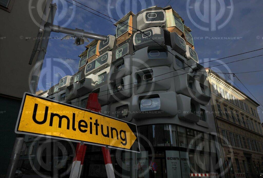 Haus mit Glupschaugen in Graz