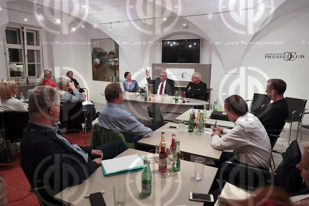 LH Schützenhöfer im Steirischen Presseclub
