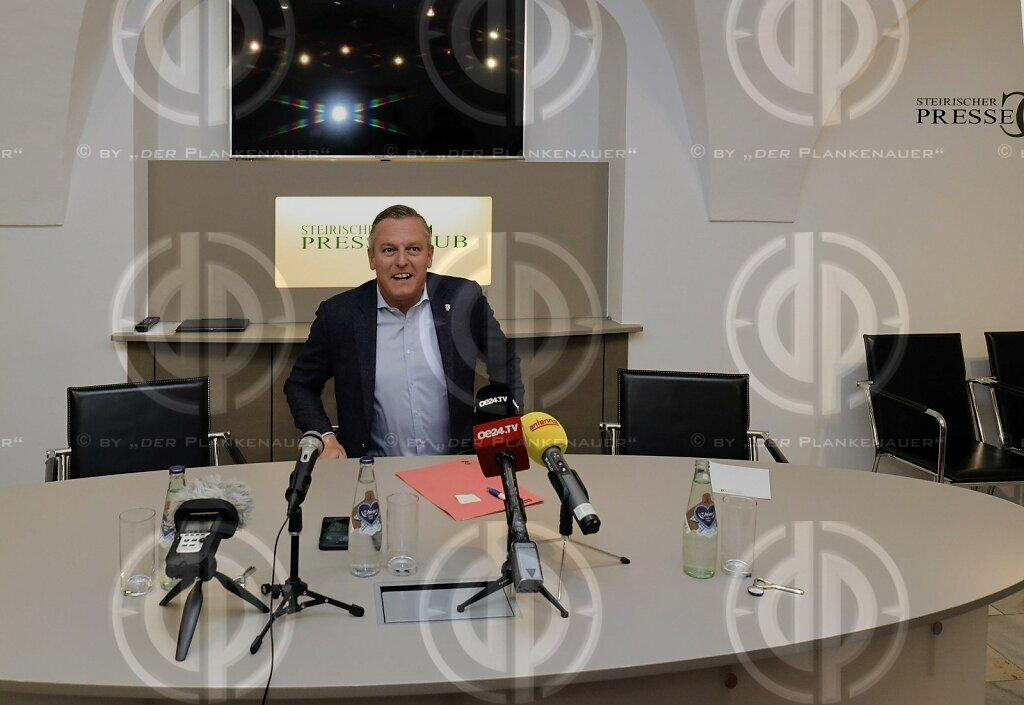 Mario Kunasek (FPÖ) im Steirischen Presseclub