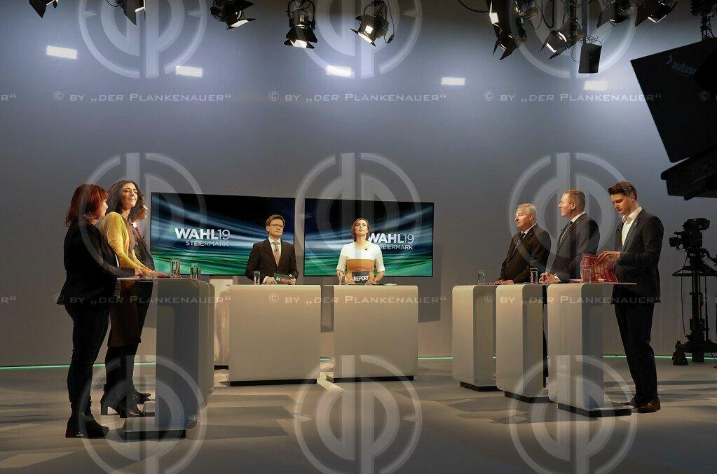ORF TV Live-Diskussion Landtagswahl Steiermark 2019