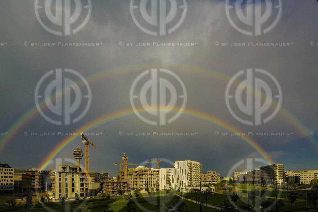 Regenbogen über Wien