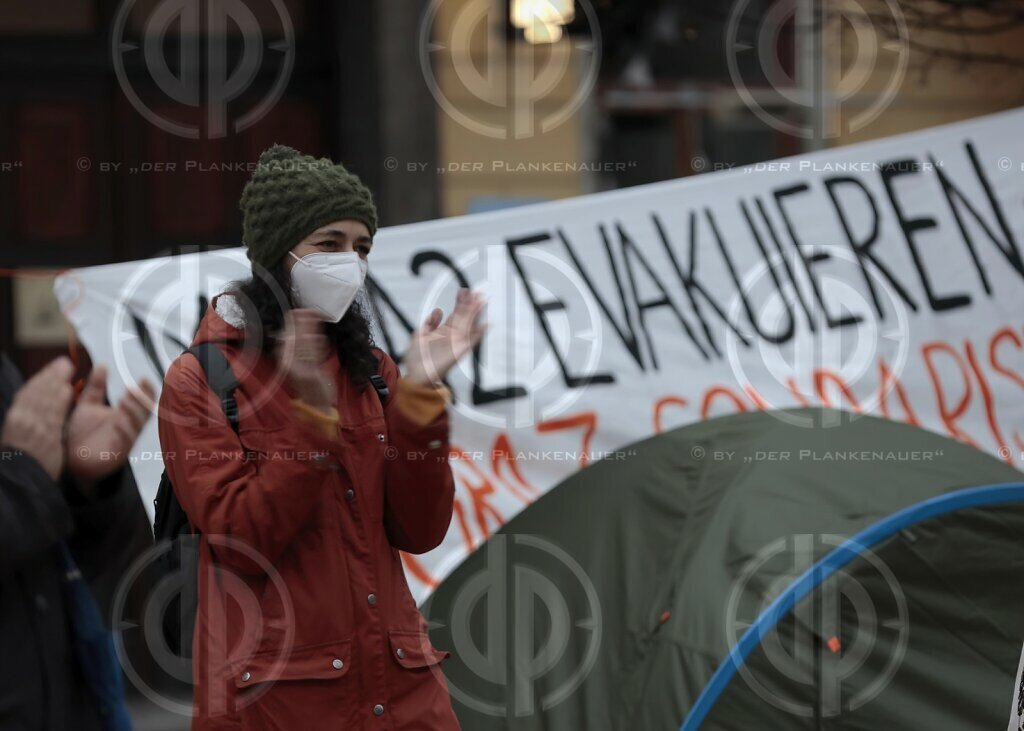 "Protestcamp ""Moria evakuieren"" in Graz am 07.02.2021"