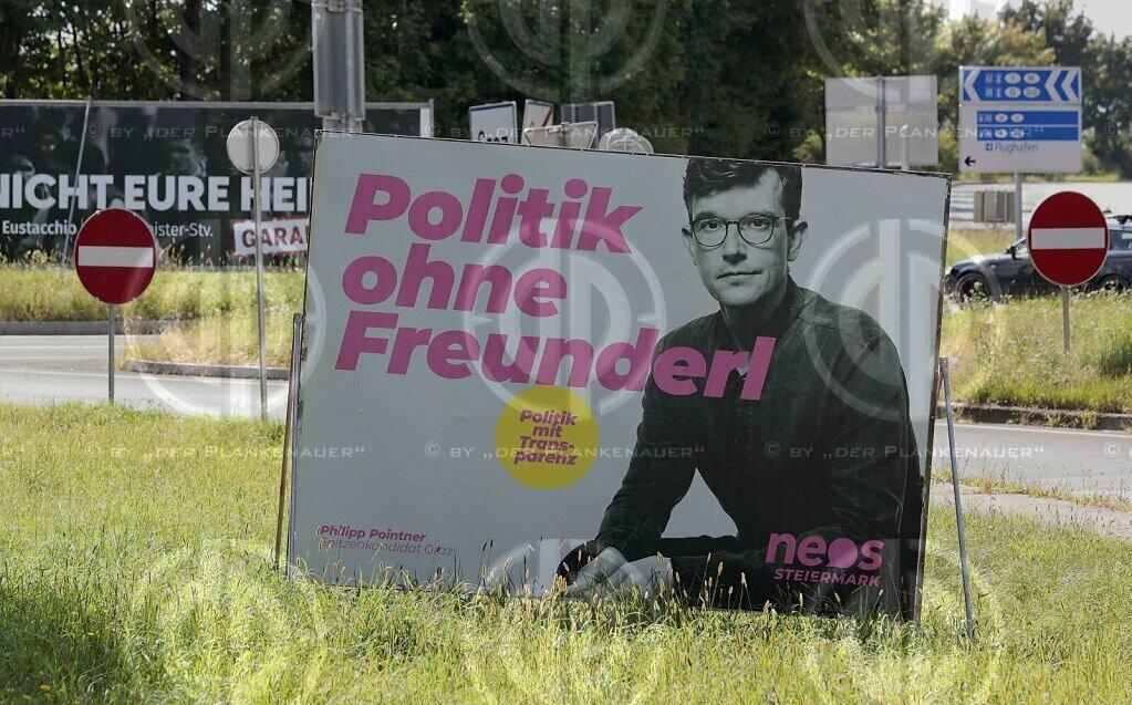 GR-Wahl 2021 Graz - Wahlplakate